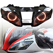 Fully Red Angel Eye Assembly Headlight Projector HID For Yamaha YZF R6 2008-2015