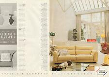 Publicité 1990  (Double page)  ROCHE BOBOIS magasin de meubles