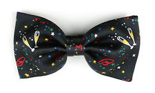 New Men's BRIONI Black Logo Stars Party Adjustable Silk Bow Tie MSRP $195!