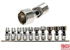 "BGS Tools 3/8"" Drive Universal Joint Socket Set Pro Torque 10-19mm 205"
