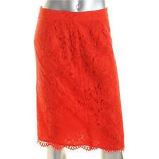 CeCe by Cynthia Steffe 3059 Womens Red Lace Lace Overlay Pencil Skirt 6 BHFO