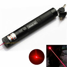 Military Red 5MW 650NM Laser Pointer 301 Pen Light Lazer Visible Beam Zoom Focus
