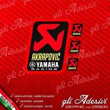 AKRAPOVIC  racing Adesivo resistente calore + 3 piccoli