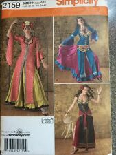 Simplicity Sewing Pattern 2159 Belly Dancing Outfits Costumes Sizes 6-12 New
