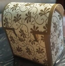 Wilton Ivory & Gold Leaf Favor Boxes For Showers Weddings Parties Set of 4 NEW