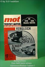 MOT 17/64 Opel Kadett Renault R8 Major VW 1200