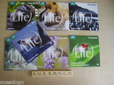 BBC EARTH - LIFE  - COMPLETE SET OF 7 NATURE DVDS - DAILY MAIL PROMO