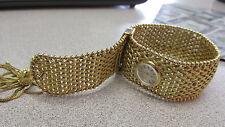 Estate Omega Tassel Watch Bracelet 18k Gold for 6- 6.5 inch Wrist  MAKE OFFER