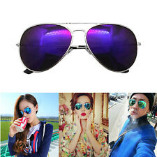 Unisex Vintage Retro Women Men Glasses Aviator Mirror Lens Sunglasses Eyewear