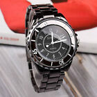 New Fashion Black Stainless Steel Band Women Lady Quartz Casual Wrist watch