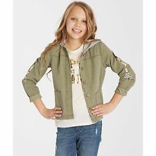 2016 NWT YOUTH GIRLS BILLABONG ARROW UP JACKET $60 M seagrass army style