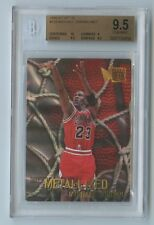 BGS 9.5 1996-97 FLEER METAL MICHAEL JORDAN METALIZED ERROR FOIL REFRACTOR READ