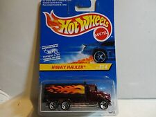 Hot Wheels International Card Red Peterbilt Tank Truck Hiway Hauler w/5 Spokes