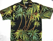 TOMMY BAHAMA * Size M *  Silk Coconut Palm Print Hawaiian Shirt * EXCELLENT