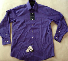new Tommy Hilfiger Regular 082951 Purple L/S Button Dress Shirt Men's 16 34-35
