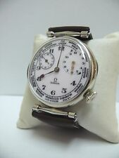 MEN'S CLASSIC STYLE Ω OMEGA WORLD TIME SWISS WRISTWATCH, NO RESERVED!!!