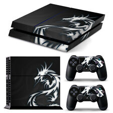 PS4 PlayStation 4 Skin Stickers PVC for Console & 2 Pads  *Dragon Tribal*