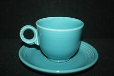 Vintage Fiesta Original Turquoise Cup & Saucer
