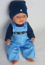 Puppenbekleidung  Latzhose Set für Baby Born 43/ Krümel 3-Teilig -Junge-