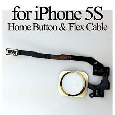 Gold Home Button Fingerprint ID Scan Sensor Flex Cable Fix Parts for iPhone 5S