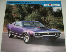 1971 Plymouth Hemi GTX 2 dr ht car print (purple)