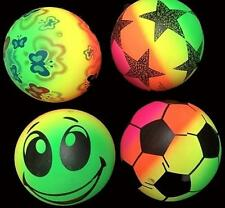 6 ASST 7 IN RAINBOW NOVELTY BALLS new toy bounce ball buttery star soccer ect