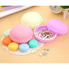 Mini Macarons Jewelry Medical Pill Storage Case Container Organizer Tool Blue
