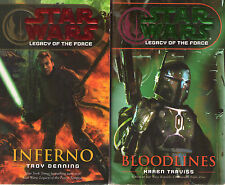 Complete Set Series - Lot of 9 Star Wars Legacy of the Force books (Sci Fi)