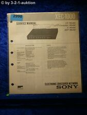 Sony Service Manual XEC 1000 Electronic Crossover Network (#2998)