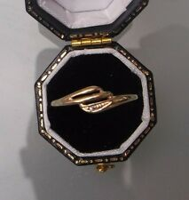 Women's Diamond Ring 9ct Gold Size Q Weight 0.8g Stamped Quality