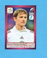 PANINI-EURO 2012-Figurina n.131- PAVLYUCHENKO - RUSSIA -NEW-DARK BOARD