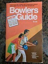 Vintage 1984 Bowlers Guide Ritgar Soutar Women's International Bowling Congress