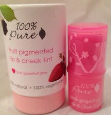 100% Pure Natural Fruit Pigmented Lip & Cheek Tint Blush *PINK GRAPEFRUIT GLOW*