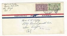 1939 Honolulu Hawaii Pearl Harbor to San Diego Airmail Special Delivery #E15 PAA