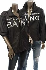 MARC BY MARC JACOBS NEW Black Print Bang Zip up Windbreaker Jacket One Size