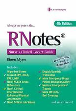 RNotes® : Nurse's Clinical Pocket Guide by Ehren Myers (2014, Spiral, Revised)