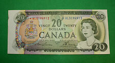 1969 $20 *WL Bank of Canada replacement note Cut out of register AU BC-50ba