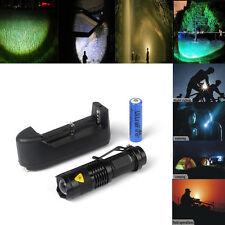 Wholesale CREE 1200LM Q5 Zoomable Focus LED Flashlight Torch+Battery&Charger