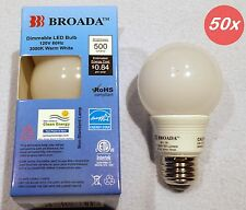 (50x) LED Dimmable  A19 A-Shape G19 Globe E26 Light  Bulbs 7w  110v Warm White