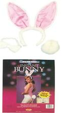 WHITE BUNNY RABBIT EARS TAIL BOW TIE KIT COSTUME DRESS FW9130