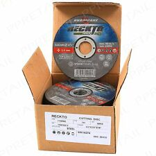 100 x RECKTO® ULTRA THIN 1mm STEEL/METAL CUTTING DISC 115 X 22.2mm ANGLE GRINDER
