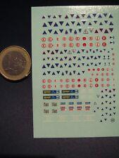DECALS 1/43 COUPE CIRCUIT et EXTINCTEUR -  T121