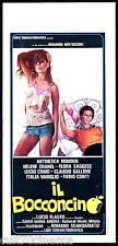 IL BOCCONCINO LOCANDINA CINEMA FILM SEXY AMANTE EROTICO 1976 PLAYBILL POSTER