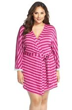 New! Woman's Pink Plus Size Honeydew Intimates 'All American' Robe Size 2X 1548