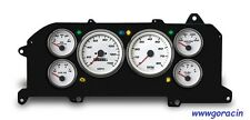New Vintage USA Performance White Gauge Set Fits 1987-93 Ford Mustang,GT,LX,5.0
