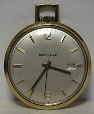 Caravelle Pocket Watch Co - circa 1950's pocketwatch 17 Jewel - Runs - JN331