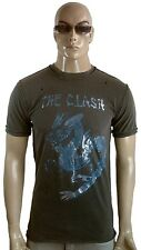 AMPLIFIED THE CLASH Dragon Official Rock Star Vintage ViP Löcher T-Shirt g.M 50