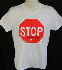 "MENS ABERCROMBIE & FITCH ""STOP HAMMERTIME"" WHITE MUSCLE T-SHIRT SIZE M"