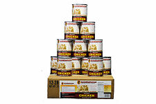 Survival Cave Food Canned Meat - Chicken Food Storage 12 Cans – 28 oz each