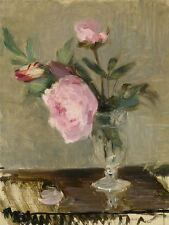 BERTHE MORISOT FRENCH PEONIES OLD ART PAINTING POSTER PRINT BB4946A